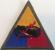WW2 original US Army Armored Force cloth patch - unassigned Tanks - triangle