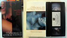 VHS: Animal Attraction 2 3 II III: erotic rare Amy Lindsay Lisa Comshaw