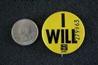 Stanley Publishing I Will Jobber News Fleet News Badge Pin Pinback Button