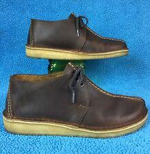 """CLARKS """"DESERT TREK"""" Originals oiled leather OXFORD/boot/loafer/chukka . men's 8"""
