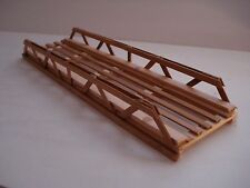 "LIONEL 0 GUAGE/OTHERS SCRATCH BUILD 12"" LONG X 3"" WIDE  WOOD TRESSLE BRIDGE USA"