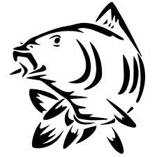 Sticker Décoration Pêche Poisson Carpe (10x9 cm à 33x30 cm)