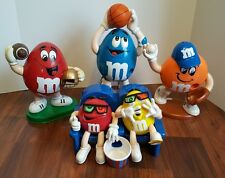 LOT 4 M&M's Collector Candy Dispenser Theater Seats Basketball Football Baseball