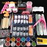 Acrylic Powder Glitter Nail Art Manicure Tool Tips Brush Set Acrylic Nail Kit