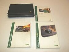 2001 LAND ROVER FREELANDER  OWNER MANUAL 4/PC SET & LAND ROVER PREMIUM CASE,,,