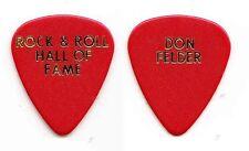Eagles Don Felder Rock & Roll Hall of Fame Induction Red Guitar Pick #2 - 1998