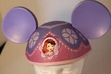 Disney Parks Princess Sofia Ears Hat Adult Size Mickey Mouse Pink Purple