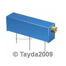 10 x 50 OHM CERMET POTENTIOMETER 15 TURNS 3006 3006P - Free Shipping