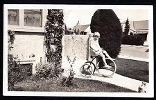 1920's BIG WHEEL Large Trike TRICYCLE Cute Sassy Little Girl ORIGINAL PHOTOGRAPH