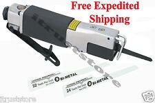 High Speed Pneumatic Reciprocating Air Saw and 2 Bi-metal Saw Blades 24Ti 32Ti