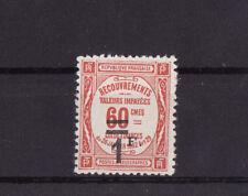 timbre France TAXE   1f  sur 60c  rouge      num: 53   **