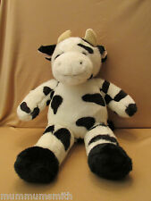 "Build A Bear Workshop Cow 19"" Plush Black White Holstein BABW"