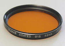 (PRL) FILTRO IZUMAR COATED G15 49 mm FILTER FILTRE FILTRU PHOTO B&W FOTO COLORE