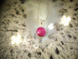 Geschenkset:  Rubin Anhänger in Silber plus Silberkette   (C09)