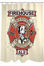 Bentin NEW 'Firehouse Ale' Dalmatian Dog Shower Curtain, $84 Retail