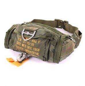 US Army Para Bag Paratrooper Belt Pouch Parachute Jumper Army Bag Od / Size / B