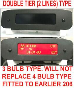 Peugeot 206 / 206cc information radio stereo center lcd display clock 96564643XT