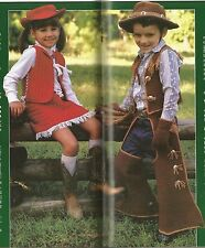 CROCHET PATTERNS: CHILDS COWGIRL & COWBOY OUTFITS, GIRLS DRESS, BABY'S TUX SHIRT