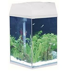 Hexagonal Aquarium Fish Tank, 21.6 Litre Capacity, With Light & Filter, White