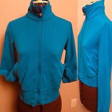 Lululemon Size 6 Blue Turquoise Shape shirred Cuffs Waistband Jacket Women