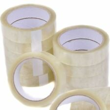 """48 ROLLS CLEAR PACKING TAPE CELLOTAPE SELLOTAPE 24MM 1"""" X 66M"""