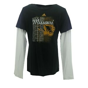 Missouri Tigers Official NCAA Adidas Kids Youth Girls Size Long Sleeve Shirt New