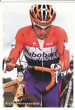 CYCLISME carte RICHARD GROENENDAAL équipe RABOBANK champion hollande Cyclo cross