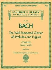 Schirmer's Library of Musical Classics: Bach: the Well-Tempered Clavier 48...