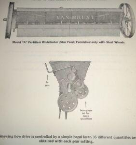 John Deere Model A Fertilizer Distributor Parts Catalog Manual Book Van Brunt JD