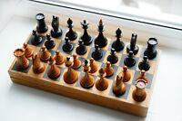 Early 60s Vintage Soviet Chess USSR - Woden Chess - Full Set!