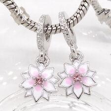 1pcs silver European Charm Beads Fit 925 Necklace Bracelet wholesale #382