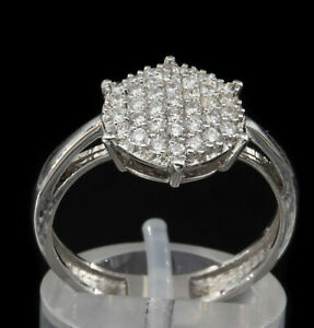 750/18kt White Gold Ring with Diamonds, Gr.55. ⭐️⭐️⭐️⭐️⭐️