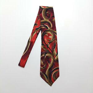 J. Garcia Red Snail Garden Limited Edition Silk Tie