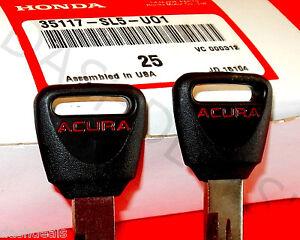 2 Genuine NEW Honda Acura OEM Master Key Blank =RED= Acura Integra CL TL Vigor