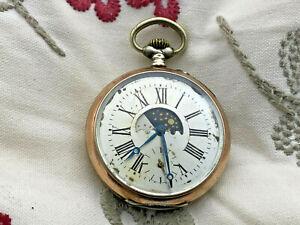 alte silberne Taschenuhr * gut erhalten und läuft *