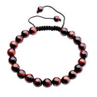 Handmade Natural Gemstone Bead Healing Power Adjustable Tassels Bracelet YHSL8