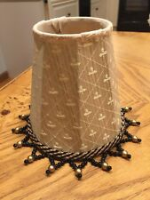 Bombay And Company Mini Fabric And Beaded Lamp Or Chandellier Shade