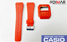 VINTAGE CASIO CASE AND BAND J-100 ROJO NOS
