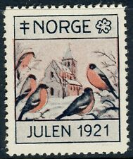 NORWAY . 1921 Christmas Seal (NKS 16)  Otto Valstad, artist - Mint Never Hinged