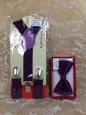 Suspenders and Bowtie Set for Kids Toddler Boys Girls Children Ring Boy Matching