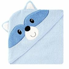 Luvable Friends Animal Face Hooded Towel Blue Raccoon 100 Cotton Terry