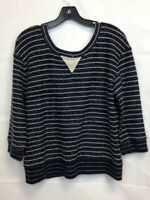 Miss Me Sweater Large Navy Blue
