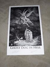 2015 SDCC GHOST DOG IN HELL ART PRINT SIGN BY FRANK CHO & THOMAS SNIEGOSKI 11x17