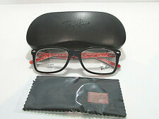 Ray Ban RB5228 RB 5228 2479 Top Black On Texture Red Eyeglasses Frame 55MM