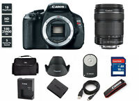 Canon EOS T3i / 600D 18.0 MP SLR Camera With 18-135mm 5169B003. Freeshipping!