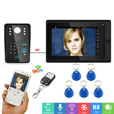 Wired Video Door Phone RFID WIFI Doorbell Intercom Entry System Password IR