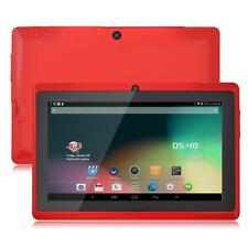 "7"" Android 4.4 Quad Core Kids Tablet PC Dual Camera  WiFi Red + Q88 Case Rose BA"