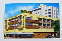 Vintage 60s 70s Lorraine Apartment Hotel Miami Beach FL Florida Postcard