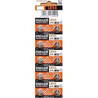 6x Maxell LR44 Batterie Knopfbatterien Alkaline Knopfzelle Top