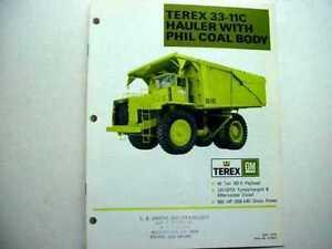 Terex 33-11C Hauler w/ Coal Body 33-11C & 33-09 Hauler
